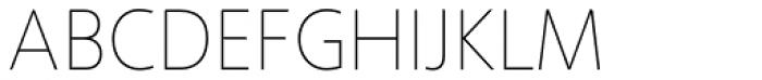 Phoenica Std Hairline 25 Font UPPERCASE