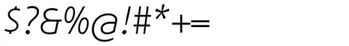 Phoenica Std Light Italic Font OTHER CHARS