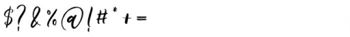 Phoony Script Regular Font OTHER CHARS
