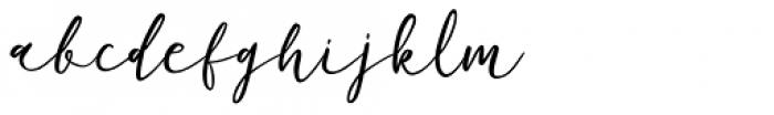 Phoony Script Regular Font LOWERCASE