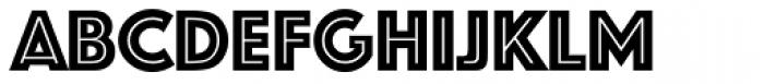 Phosphate RR Inline Font LOWERCASE