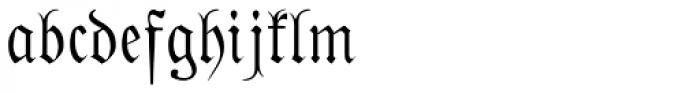 Phraxtured Deutsch Font LOWERCASE