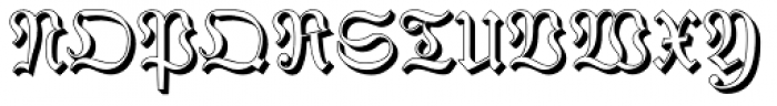 Phraxtured Shadowed Font UPPERCASE