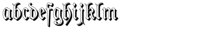 Phraxtured Shadowed Font LOWERCASE