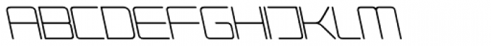 Phuture Rnd Clsd A Italic Font UPPERCASE