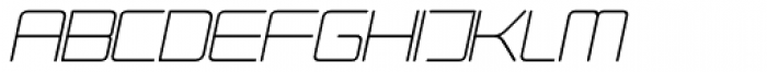 Phuture Rnd Clsd Italic Font UPPERCASE