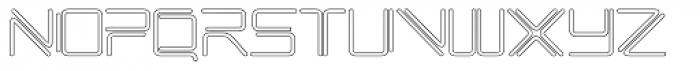 Phuture Rnd Open Outline Font UPPERCASE