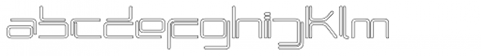 Phuture Rnd Open Outline Font LOWERCASE