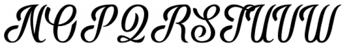 Phyton Script Font UPPERCASE