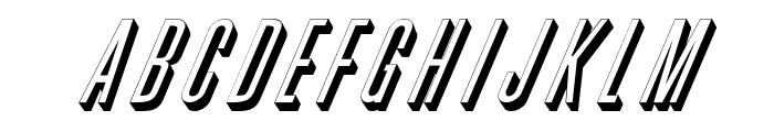 Phoenix D Italic Font UPPERCASE