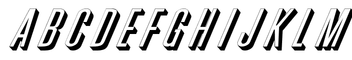 Phoenix Wide D Italic Font LOWERCASE