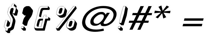 Phoenix Wide Italic Font OTHER CHARS