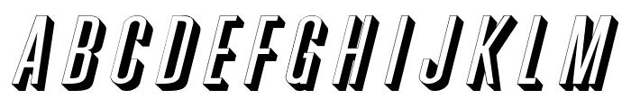 Phoenix Wide Italic Font LOWERCASE