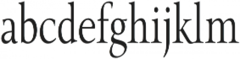 Pial Serif Condensed otf (400) Font LOWERCASE