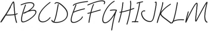 Picklet Italic otf (400) Font UPPERCASE