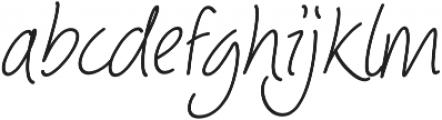 Picklet Italic otf (400) Font LOWERCASE
