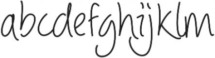 Picklet Regular otf (400) Font LOWERCASE