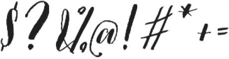 Picky Girl - Kestrel Montes otf (400) Font OTHER CHARS
