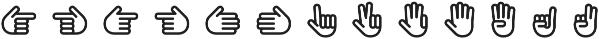 Pictypo Three otf (400) Font UPPERCASE