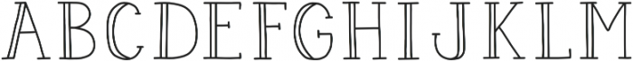 Pigeon Scout Serif otf (400) Font UPPERCASE