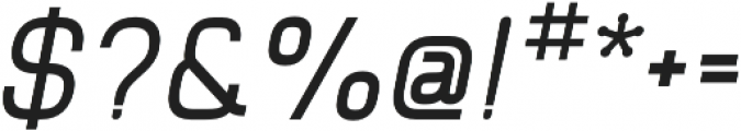Piko Bold Oblique otf (700) Font OTHER CHARS