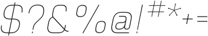 Piko Light Oblique otf (300) Font OTHER CHARS