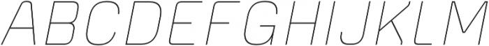 Piko Light Oblique otf (300) Font UPPERCASE