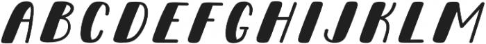 Pinafore Oblique otf (400) Font UPPERCASE