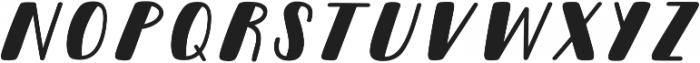 Pinafore Oblique otf (400) Font LOWERCASE