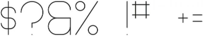 Pinchik Light otf (300) Font OTHER CHARS