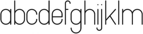 Pinchik Regular otf (400) Font LOWERCASE