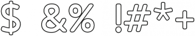 PineAndOakOutline Regular ttf (400) Font OTHER CHARS