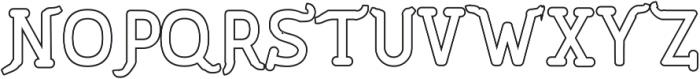 PineAndOakOutline Regular ttf (400) Font UPPERCASE