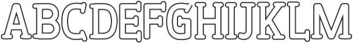 PineAndOakOutline Regular ttf (400) Font LOWERCASE