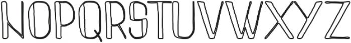 Pinon Outline otf (400) Font UPPERCASE