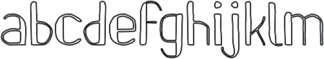 Pinon Outline otf (400) Font LOWERCASE