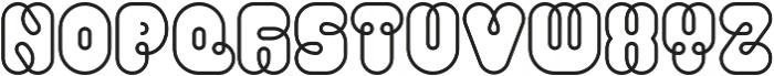 Pio Rounded Regular ttf (400) Font UPPERCASE