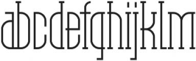 Pipe line Regular ttf (400) Font LOWERCASE