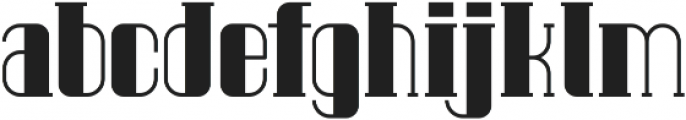 Pipe solid Regular ttf (400) Font LOWERCASE