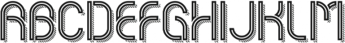 Piper InlineStripedShadow otf (400) Font UPPERCASE