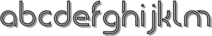 Piper InlineStripedShadow otf (400) Font LOWERCASE