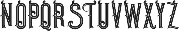 Pirate Bold Inline otf (700) Font UPPERCASE