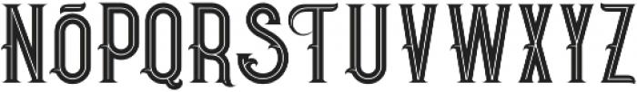 Pirate Bold Inline otf (700) Font LOWERCASE