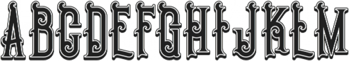 Pirate Shadow otf (400) Font UPPERCASE