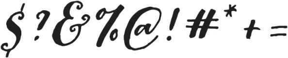 Pitch Or Honey Slant otf (400) Font OTHER CHARS