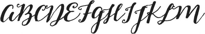 Pitch Or Honey Slant otf (400) Font UPPERCASE