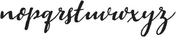 Pitch Or Honey Slant otf (400) Font LOWERCASE