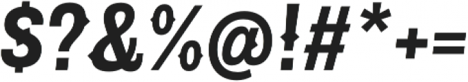 Pitmaster Bold Italic otf (700) Font OTHER CHARS