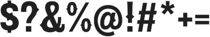 Pitmaster Bold otf (700) Font OTHER CHARS