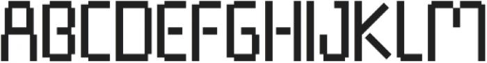 Pixel Rand Regular otf (400) Font UPPERCASE